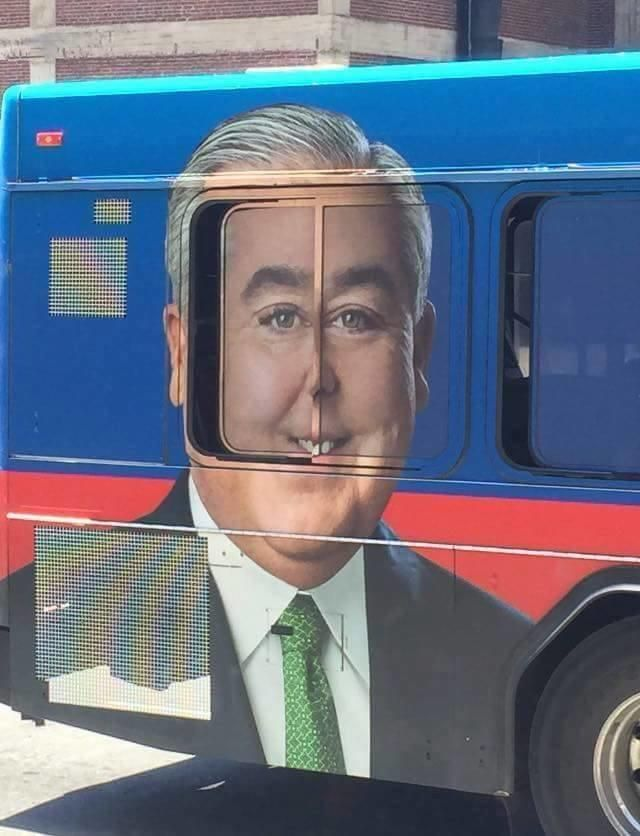 Bus Ad   Perfectly Timed Photos