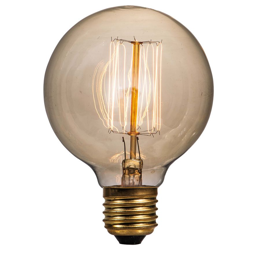 Litex Vintage 40 Watt Dimmable Warm White G25 Vintage Incandescent