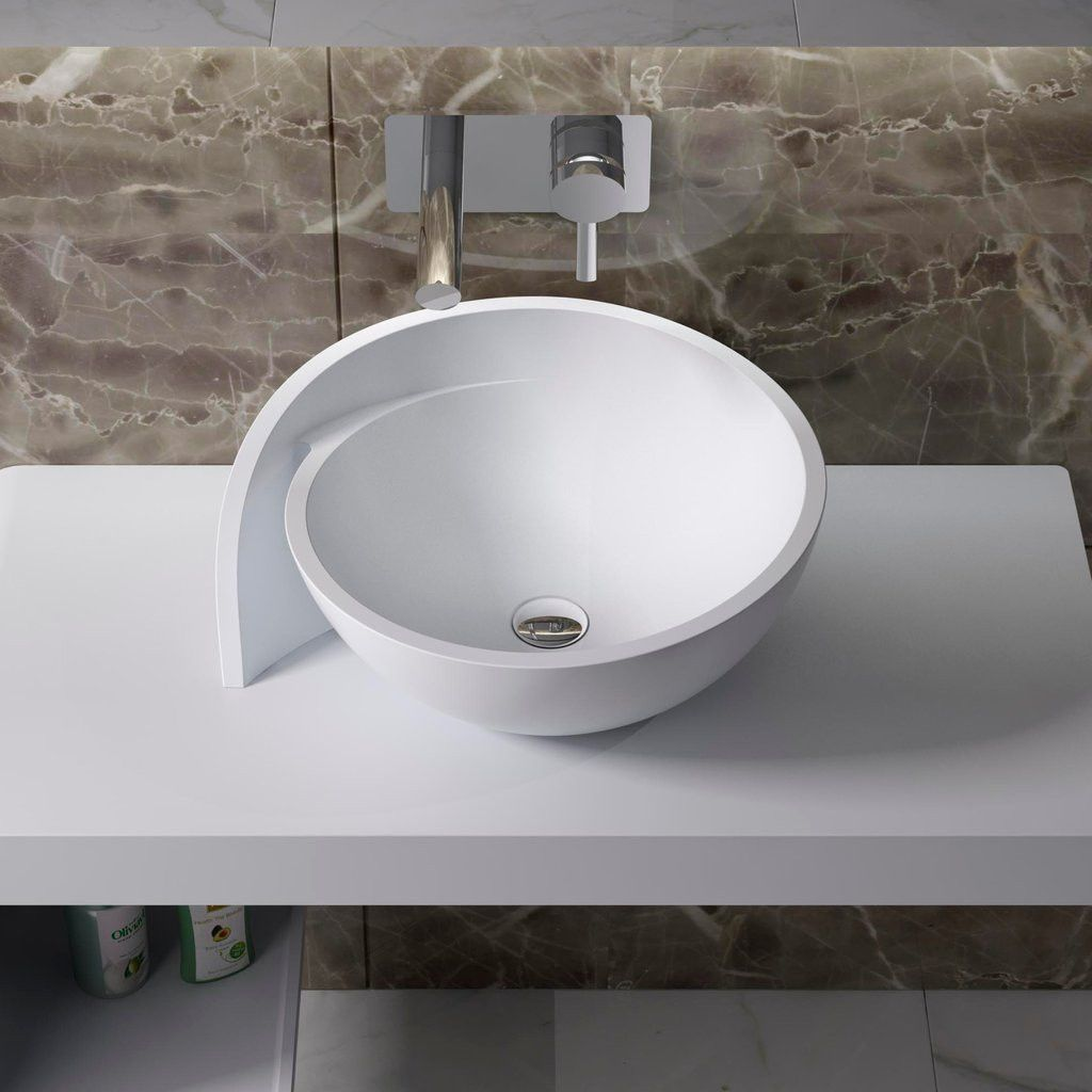 Circle Countertop Sink 20 X18 Cw 109 Sink Countertop Modern Master Bathroom Sink