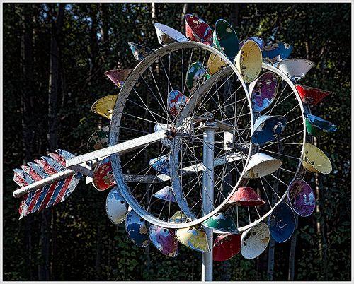 Bicycle Wheel Weather Vane Google Search Yard Art 400 x 300