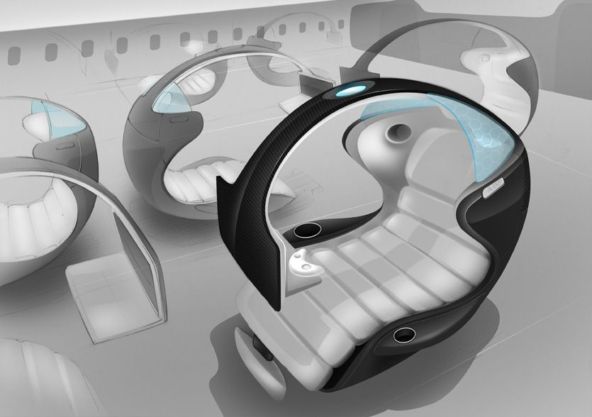 This Design Of An Innovative Aircraft Seat Stole The Show At Interiors Expo In