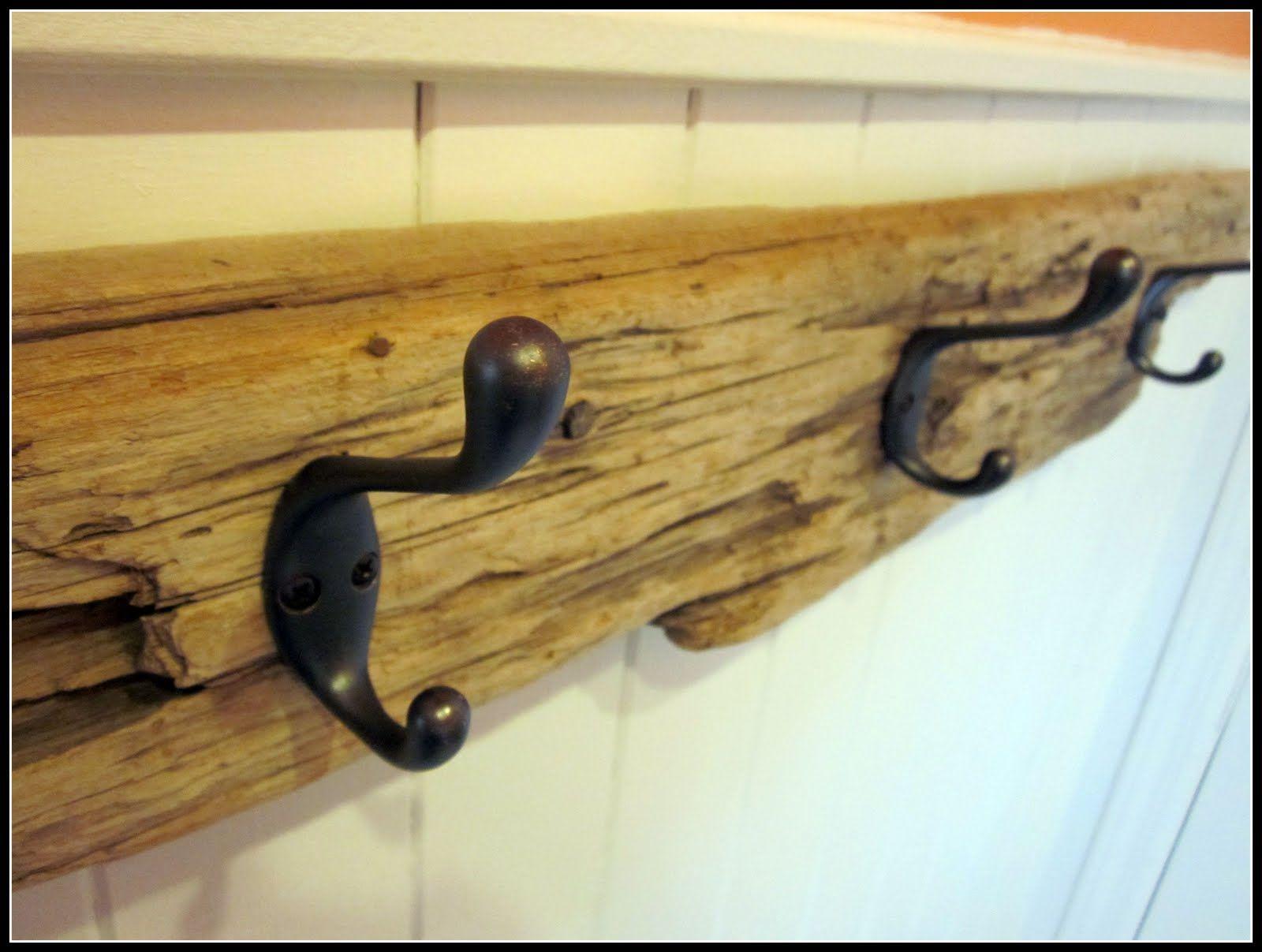 driftwood towel hooks            homeroad: DIY... I did!