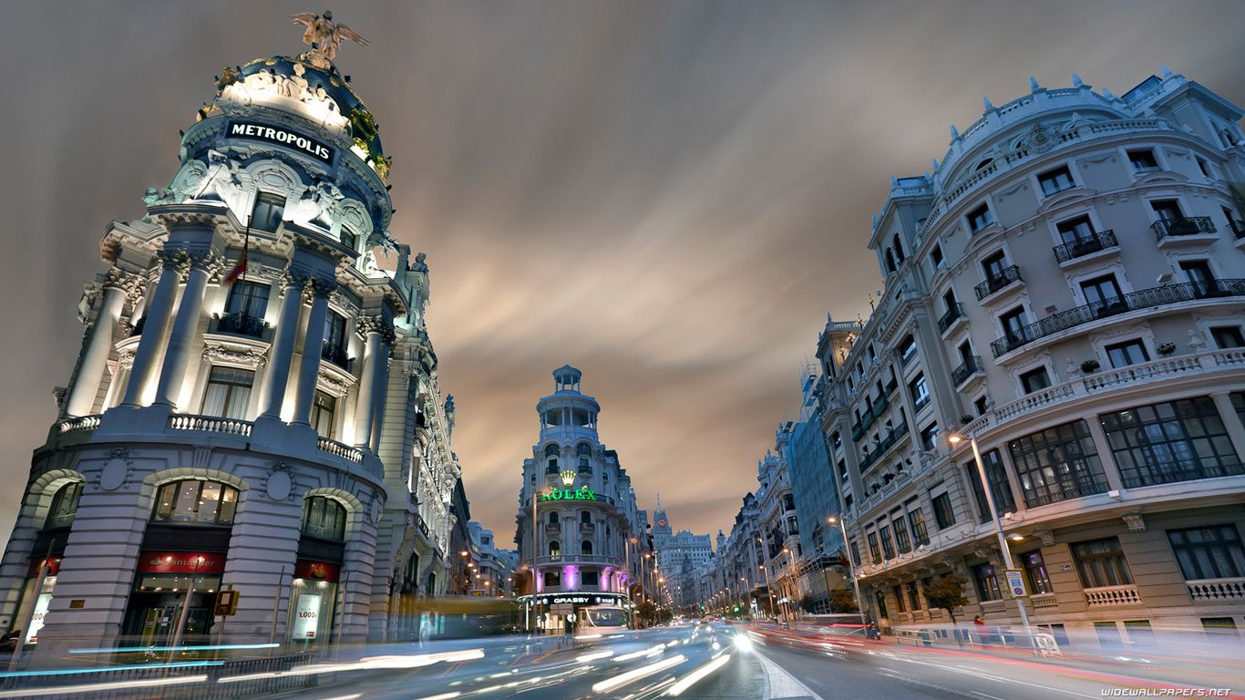 Madrid Jpg 1366 768 Travel The World For Free City Landscape Madrid