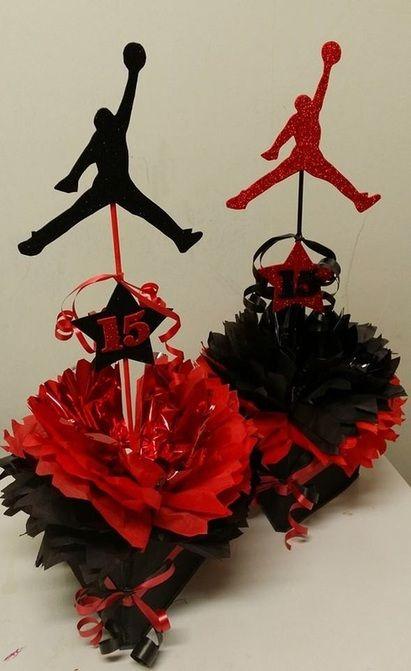 Birthday Theme Centerpieces. Jordan CakeJordan 23Jordan Baby ShowerBasketball  ...