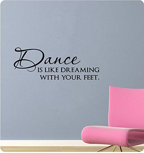 30 Dance Is Like Dreaming With Your Feet Jazz Ballet Music Wall Decal Sticker Art Mural Home Dcor Quote *** You can get more details by clicking on the image.