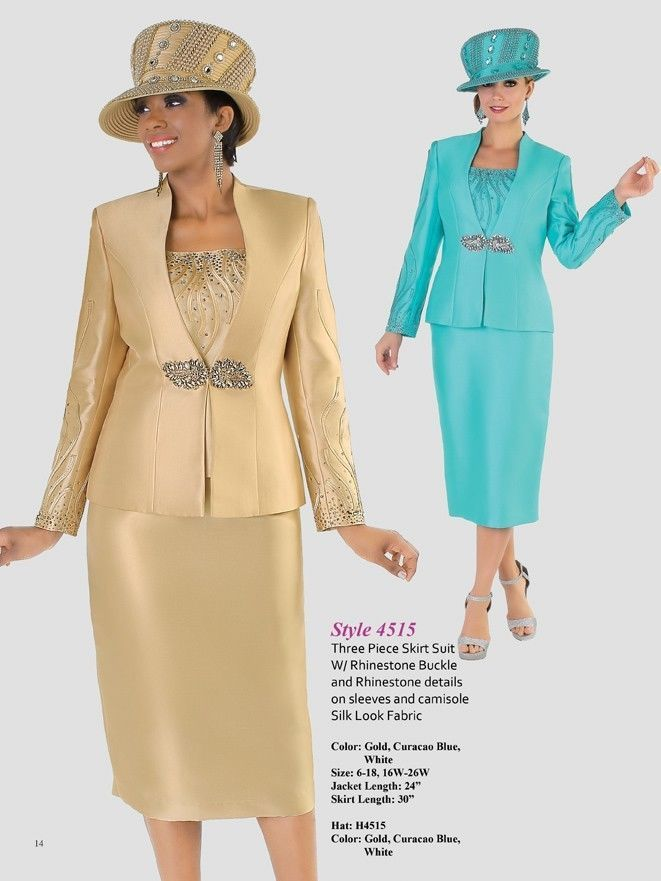 Tally Taylor Blue White Gold Skirt Suit Church Wedding Mother of ...