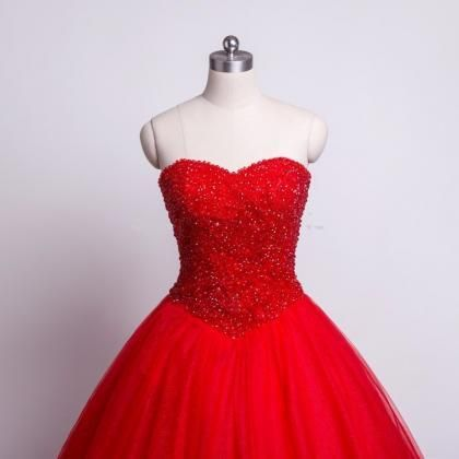 modest red prom quinceanera dresses with images