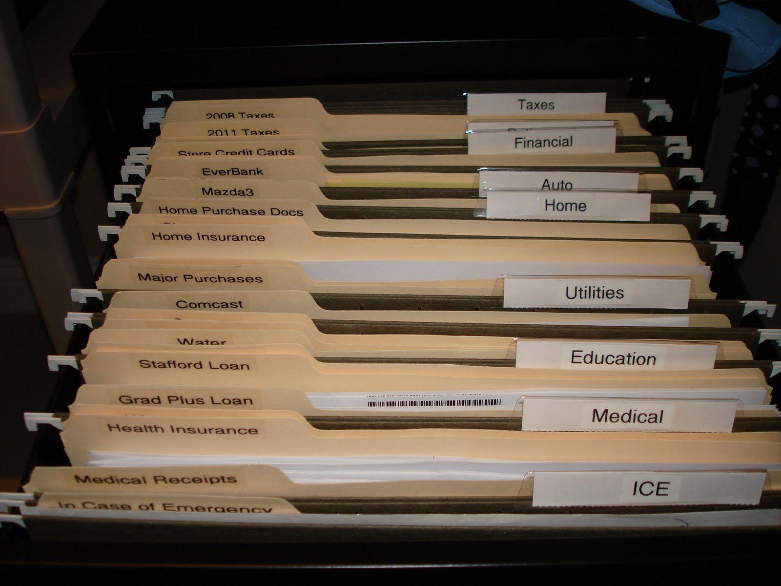 filing cabinet folder label ideas | File Folder Labels ...