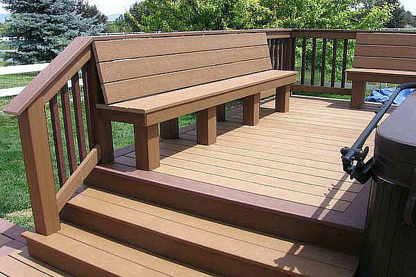 Bench with backrest plans norway eco wood bench for Best decking material to use
