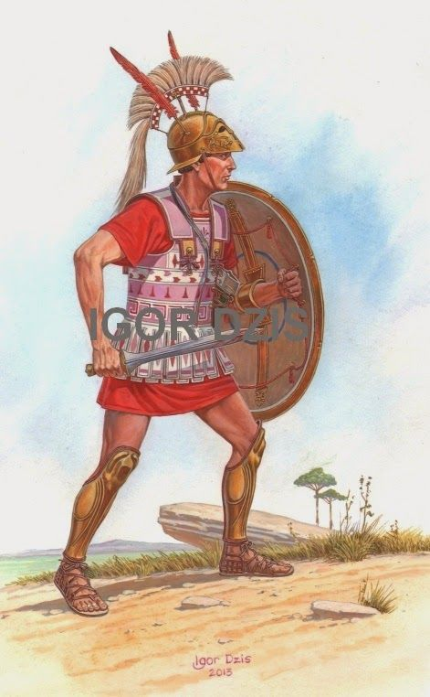 Etruscan Hoplite (II BC) IGOR DZIS BATTLE PAINTING ...
