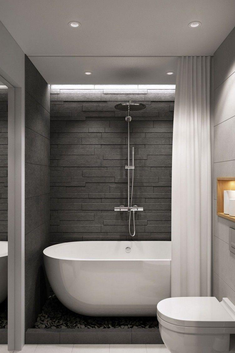Moderne Einrichtung In Naturtonen Fur Eine Junge Frau Wohnzimmer Ideen Midcentury Kleine Badezimmer Design Badezimmer Innenausstattung Modernes Badezimmer