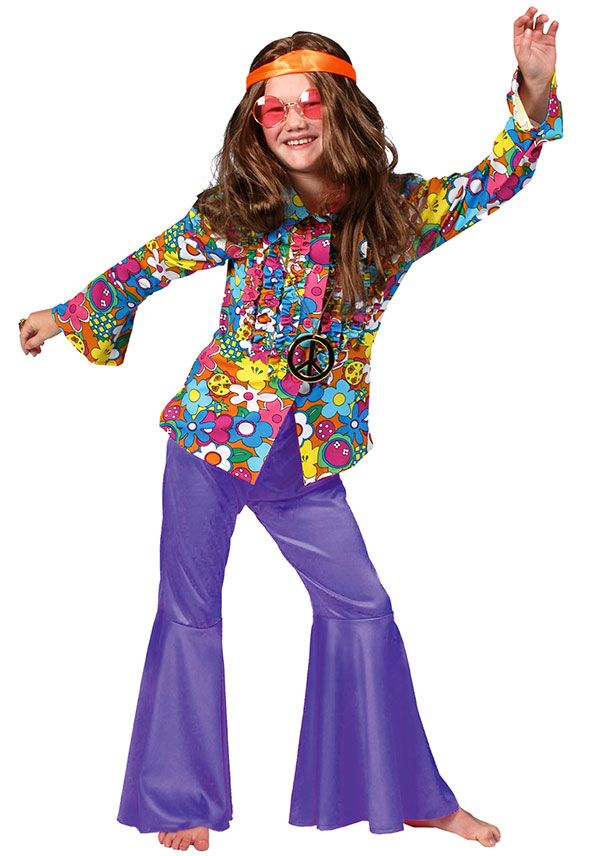 Purple Hippie or Disco Costume Pants - Disco and Hippie Costumes ...