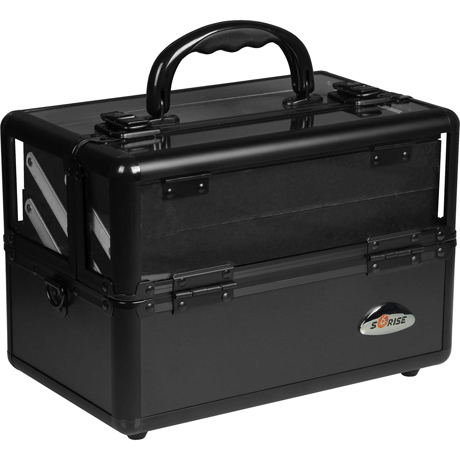SUNRISE Makeup Train Case C0009 Clear Acryic Top, Travel