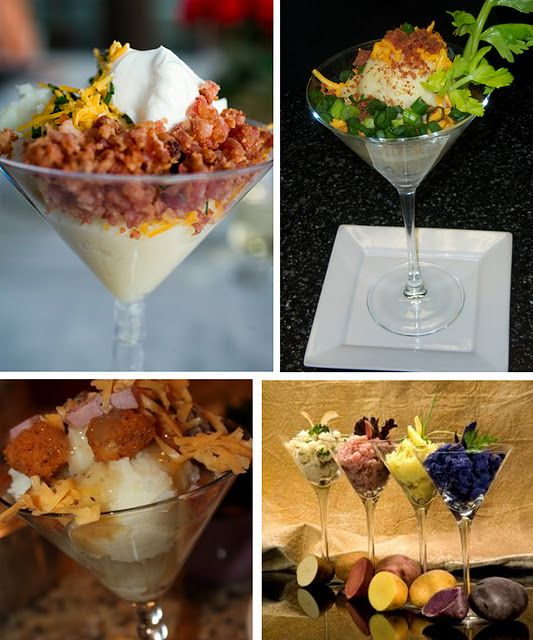 Wedding Food Stations Ideas: Mashed Potato Martini! Friend Had This At Her Wedding