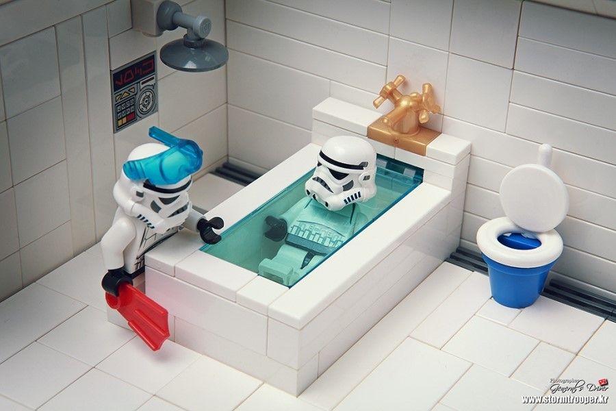 Take A Bath Lego War Lego Star Wars Lego Stormtrooper