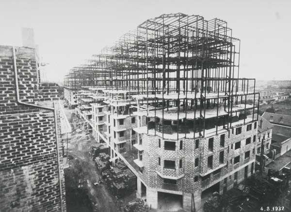 1927 1934 construction des gratte ciel de villeurbanne - Construction gratte ciel ...