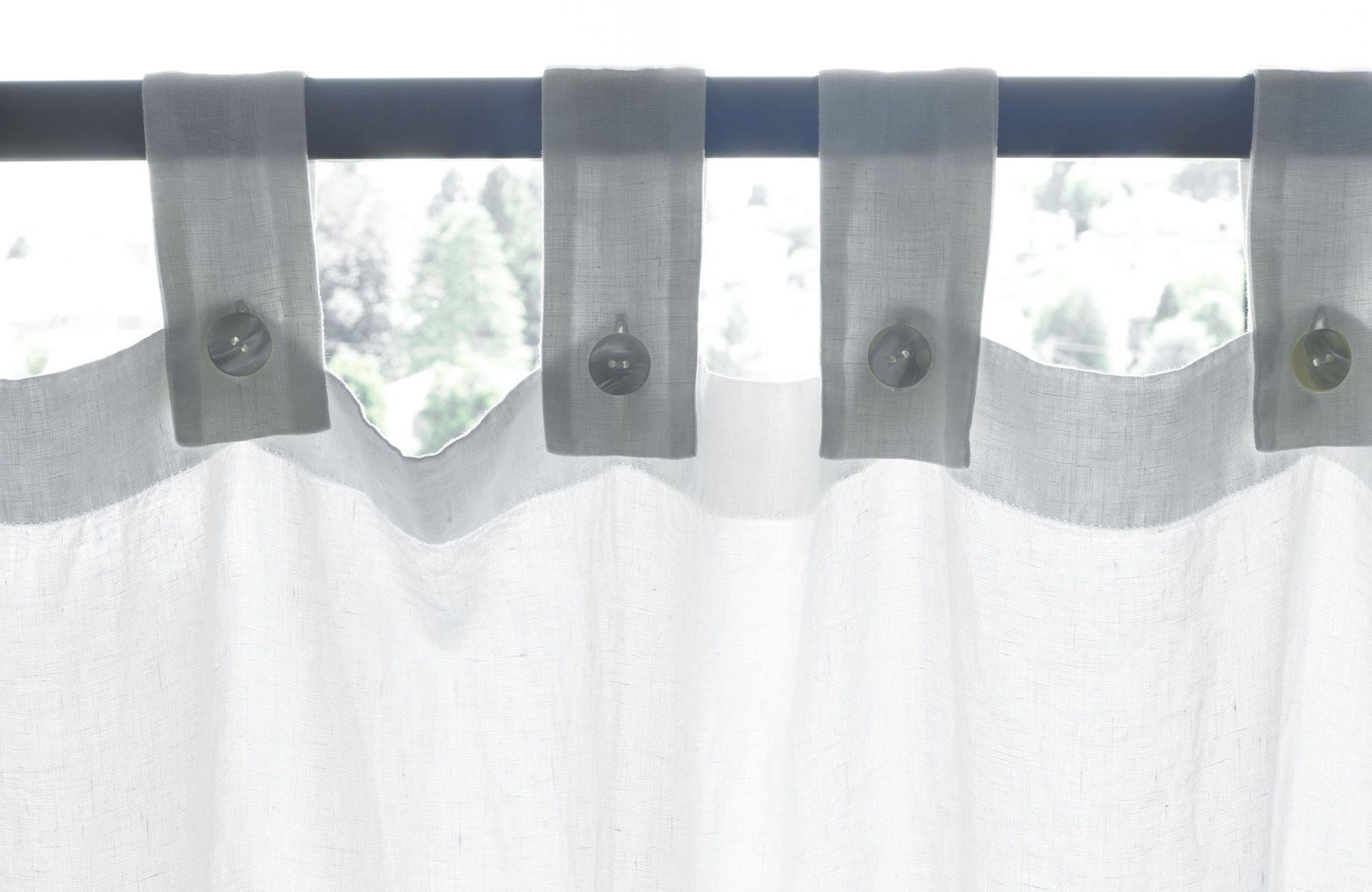 society limonta - garza : linen gauze curtain