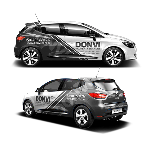 Photo of Help donvi property services create an eye catching car wrap design   Car, truck or van wrap contest