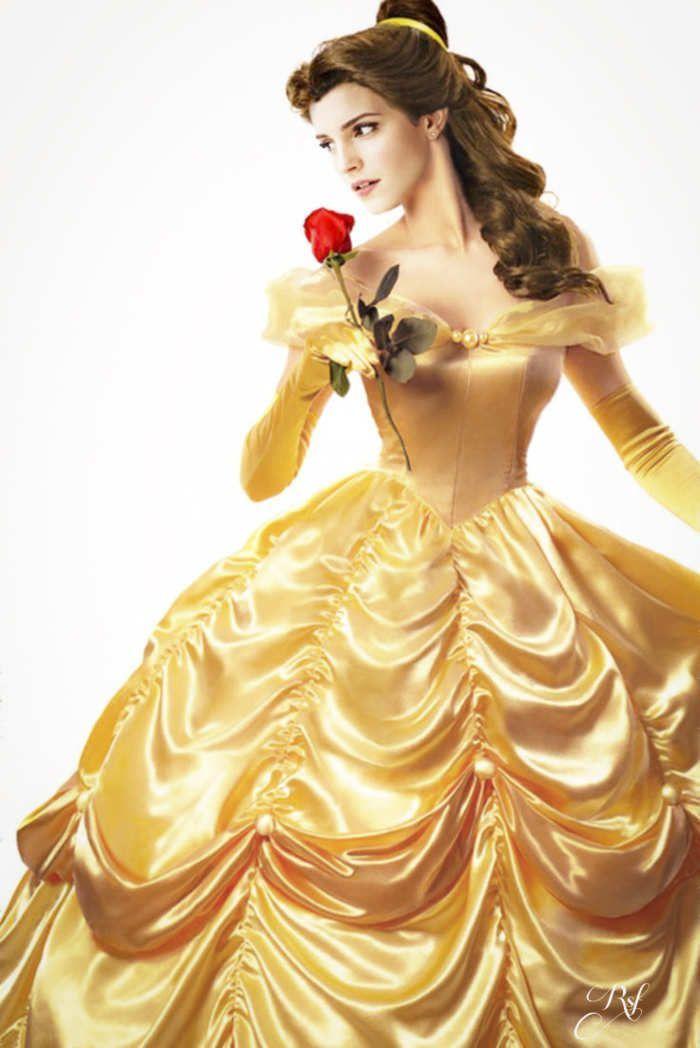 実写版『美女と野獣』エマワトソン演じるベルのドレス姿を先取り!にて紹介している画像