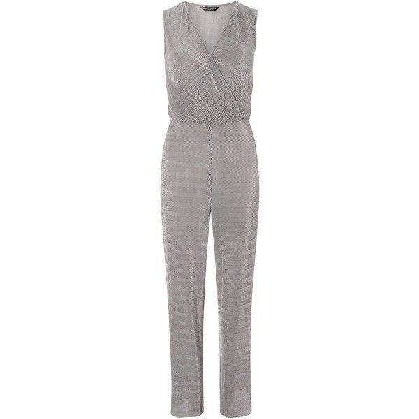Dorothy Perkins Plise Jumpsuit ($46) ❤ liked on Polyvore featuring jumpsuits, women, white jump suit, dorothy perkins, jump suit and white jumpsuit
