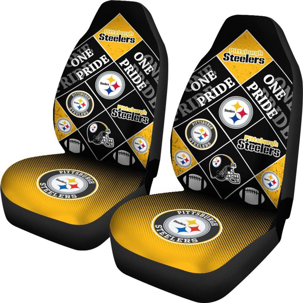 Pride Flag Pittsburgh Steelers Car Seat Covers