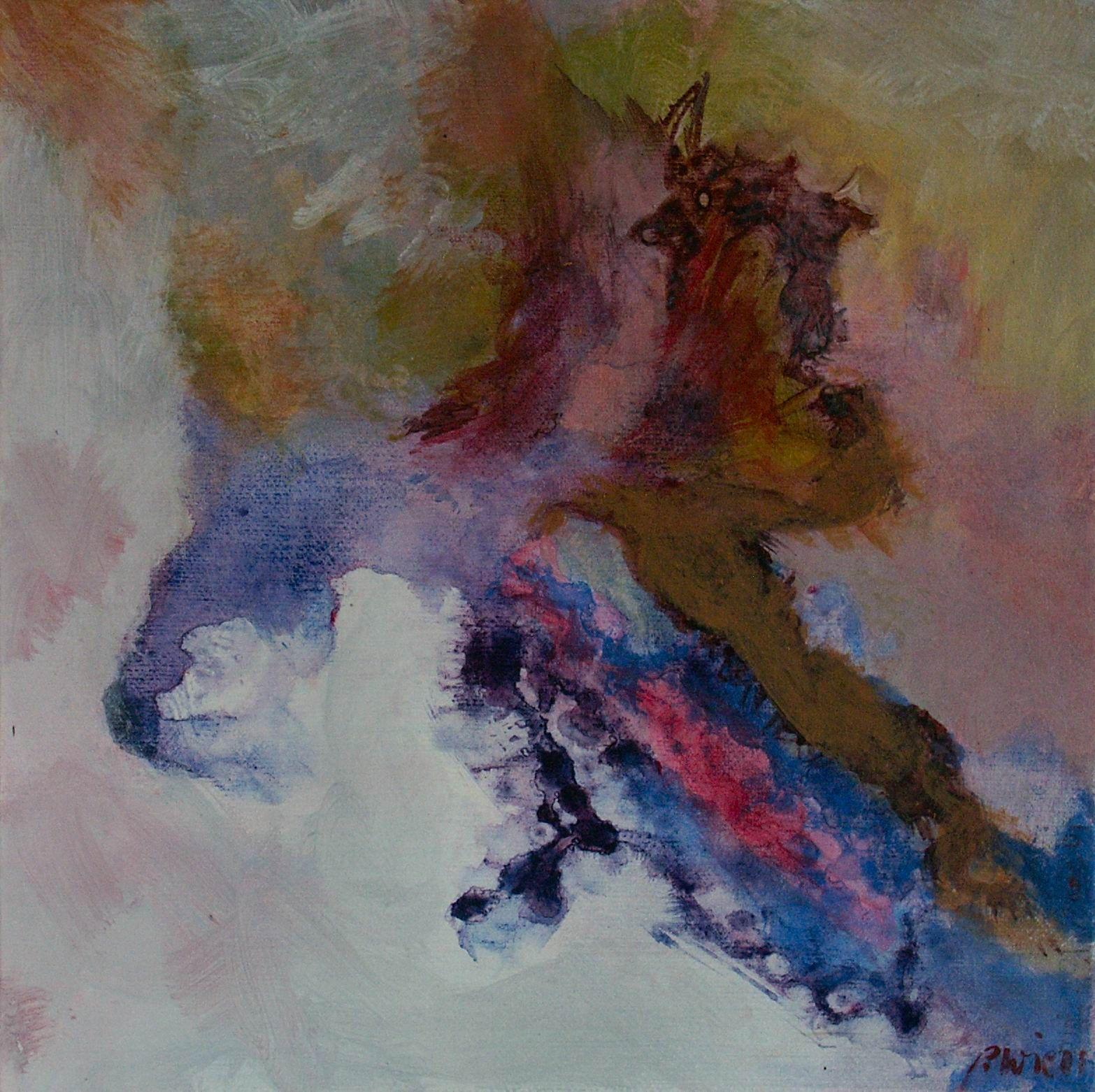 Studie 12, 2001 (P.Wienand) Acryl auf Leinwand/Holz, 25 x 25 cm