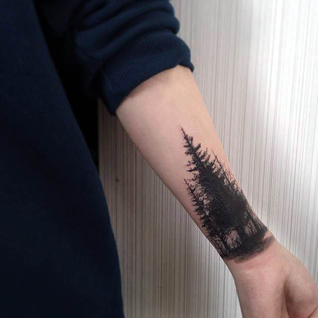 Black Forest Forest Tattoos Trendy Tattoos Wrist Tattoo Cover Up