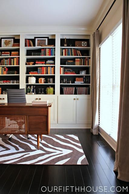 How To Clean Dark Wood Floors Built In Bookcase Bookshelves Built In Stylish Office Space