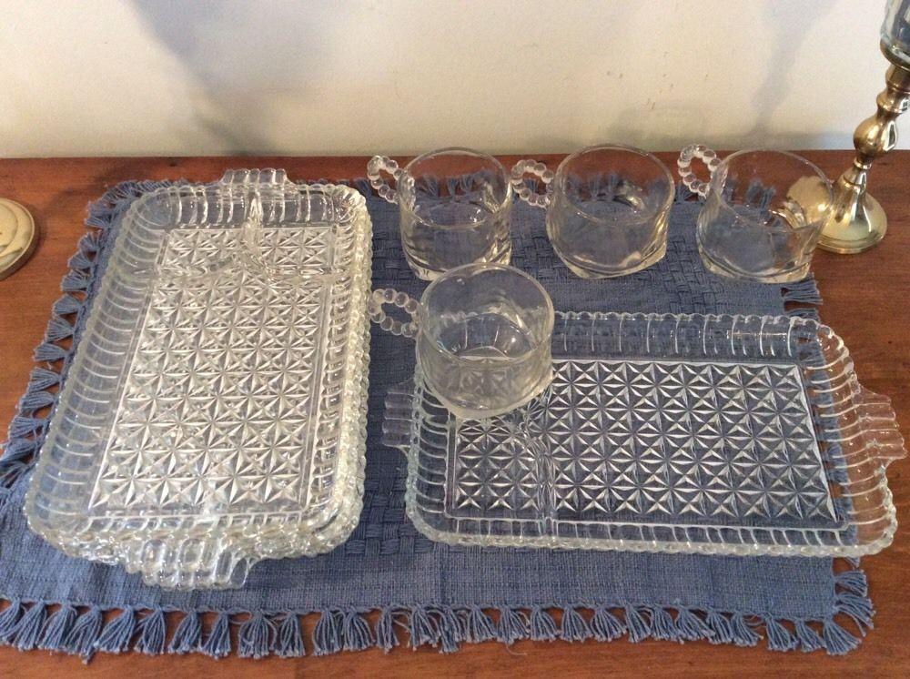 4 Vintage Hazel Atlas Luncheon Plate Sets Boopie Snack Cup and Smoke & 4 Vintage Hazel Atlas Luncheon Plate Sets Boopie Snack Cup and Smoke ...