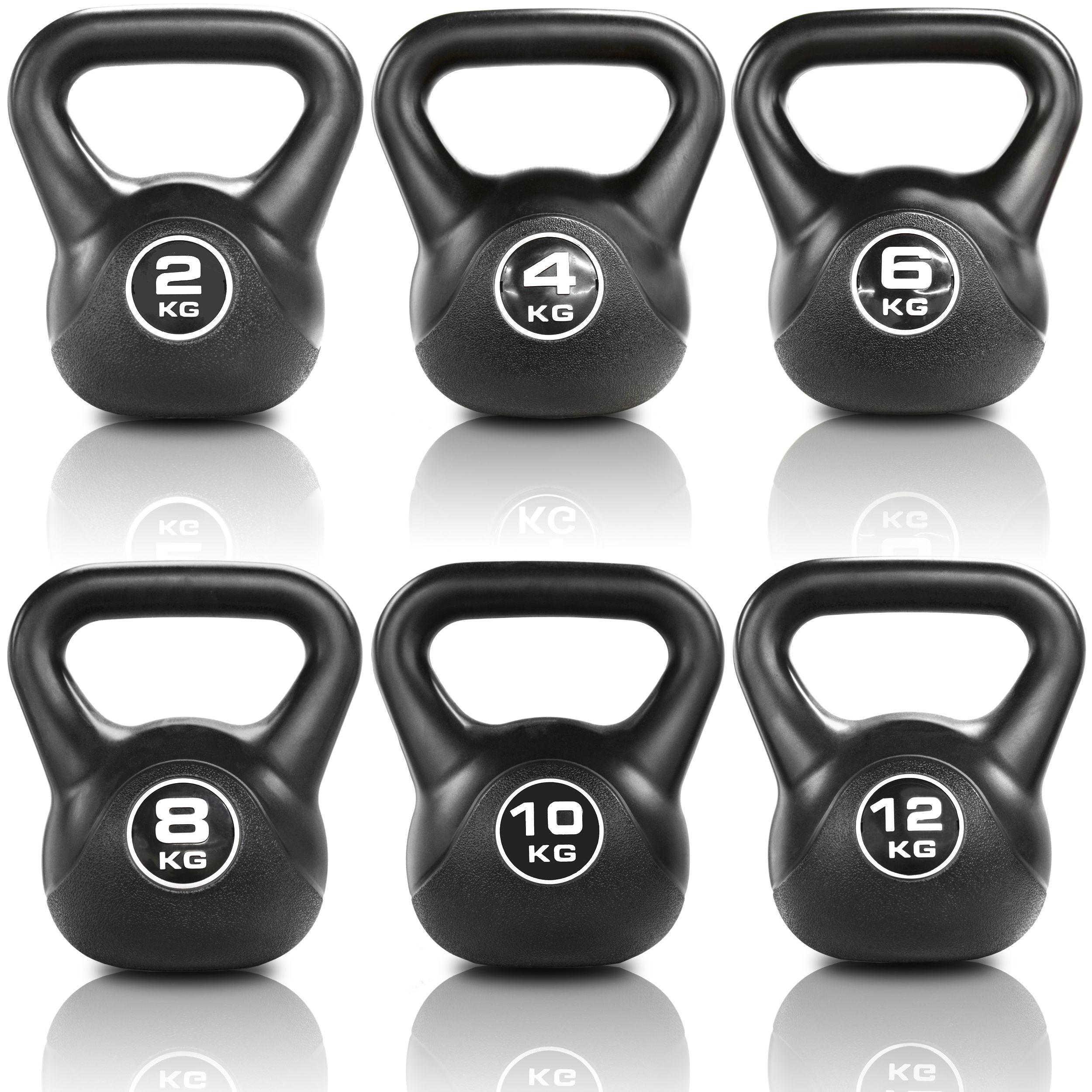 Jll Black Vinyl Kettlebells 2kg 16kg Weight Training Equipment Kettlebell At Home Gym