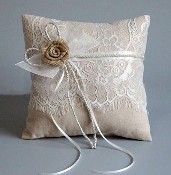 wedding ring holder 20cm x 20cm Ivory wedding ring bearer pillow