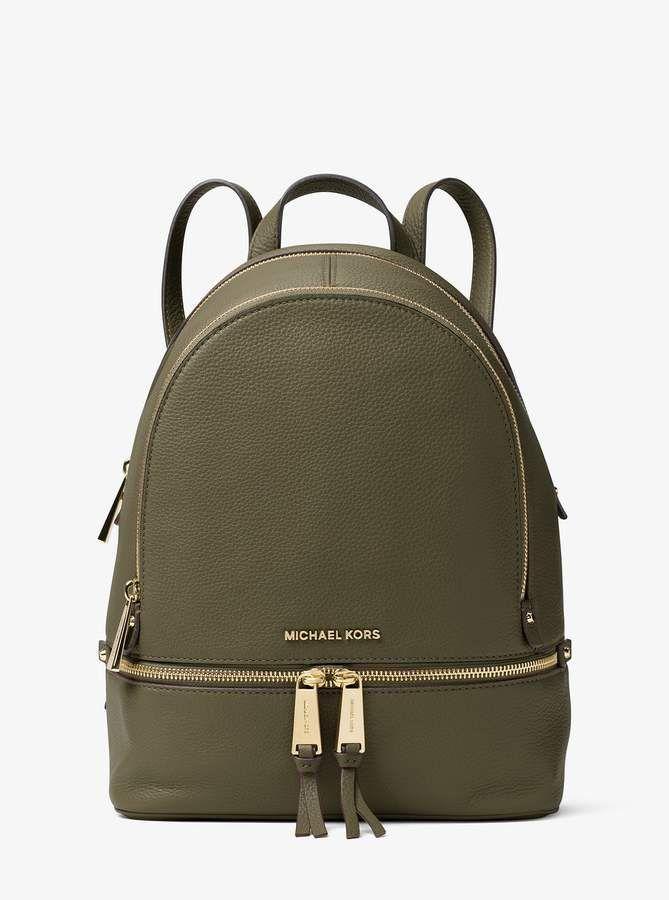 0c8c26776240 MICHAEL Michael Kors Rhea Medium Leather Backpack | Purses | Leather ...