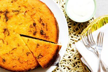 Lemon semolina syrup cake
