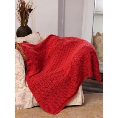Free Intermediate Afghan Knit Pattern Free Knit Throws Blankets