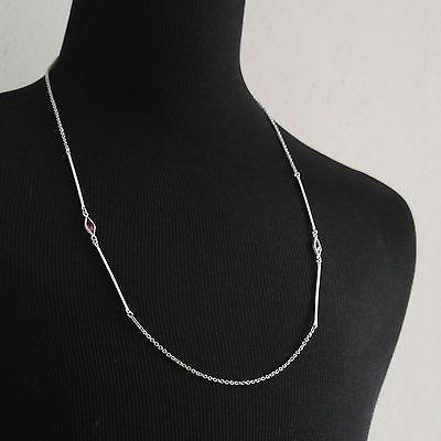 Vintage Signed Sarah Coventry Sara Cov Silver-tone Pink Serenade Necklace 1978