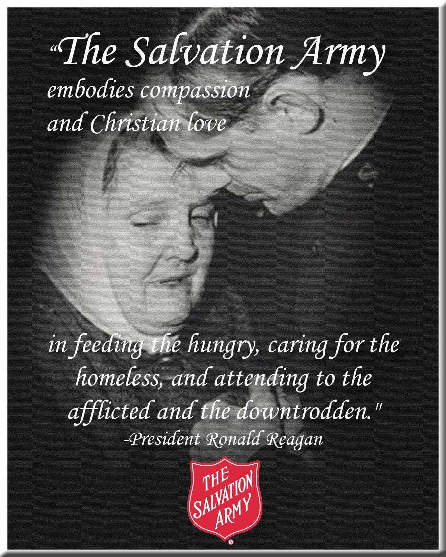 Ronald Reagan Love Quotes Ronald Reagan The Salvation Army Embodies Quote Ronaldreagan