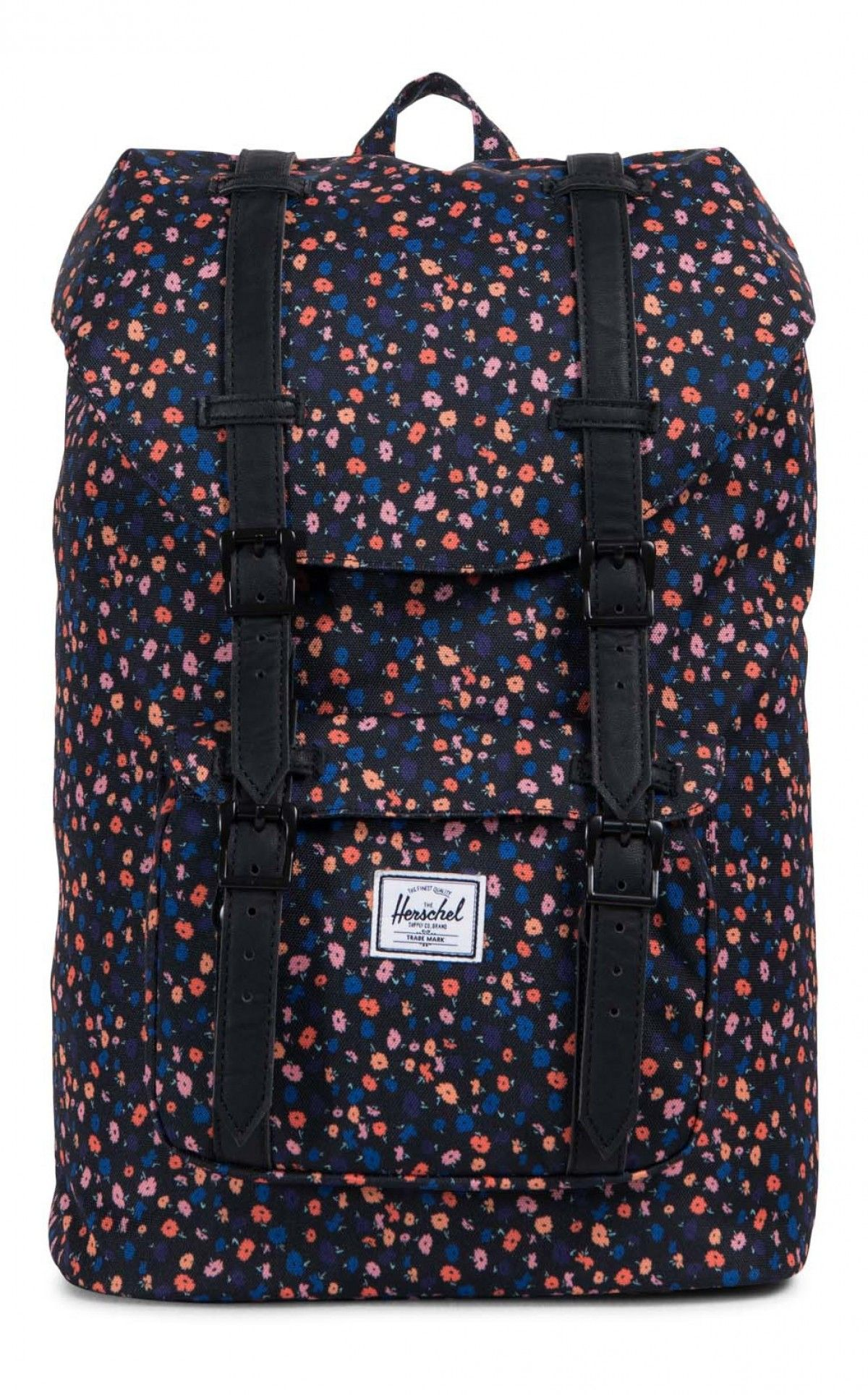 fbab347fdd Herschel Little America Mid Backpack 600D Poly Black Mini Floral Black