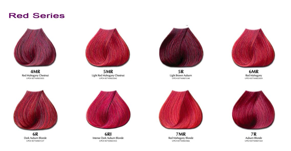 Developlus Satin Hair Color Chart Reds Ginger Ale Pinterest
