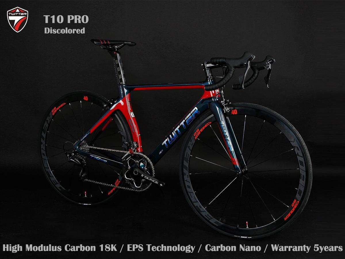Twitter Carbon Road Bike T10 Pro Discolor Shimano 105 R7000 22s