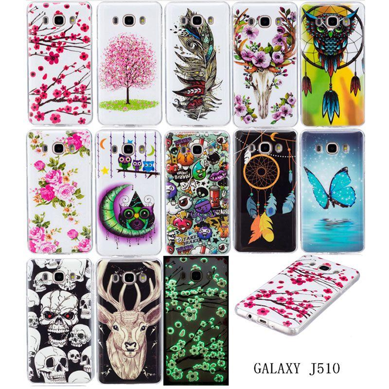 Night Light Case For Samsung Galaxy J5 2016 Case Cover Silicone Back Cover For Samsung J5 2016 Phone Coque Funda Capinha Tpu