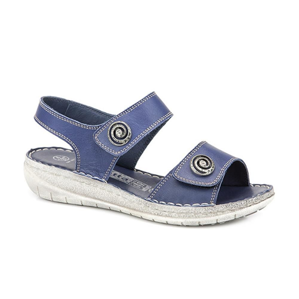 c6b49fb4e583be Touch Fasten Leather Sandals (HAK25511) by Loretta @ Pavers Shoes - Your  Perfect Style