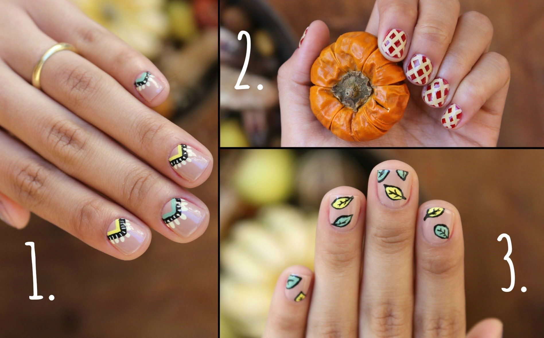 Thanksgiving Nails!! 3 Easy Designs | Video Tutorial | n a i l s ...