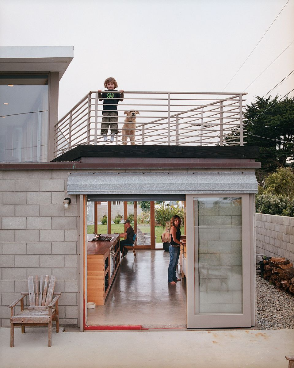 House Beautiful Large Living Rooms: Roof Patio, Dormer, Large Sliding Doors