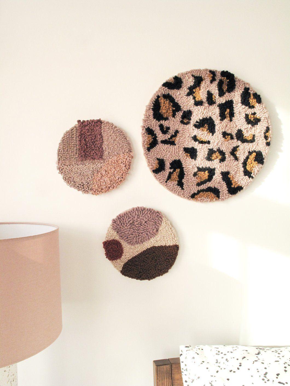 Fibre Wall Art In Blush Leopard