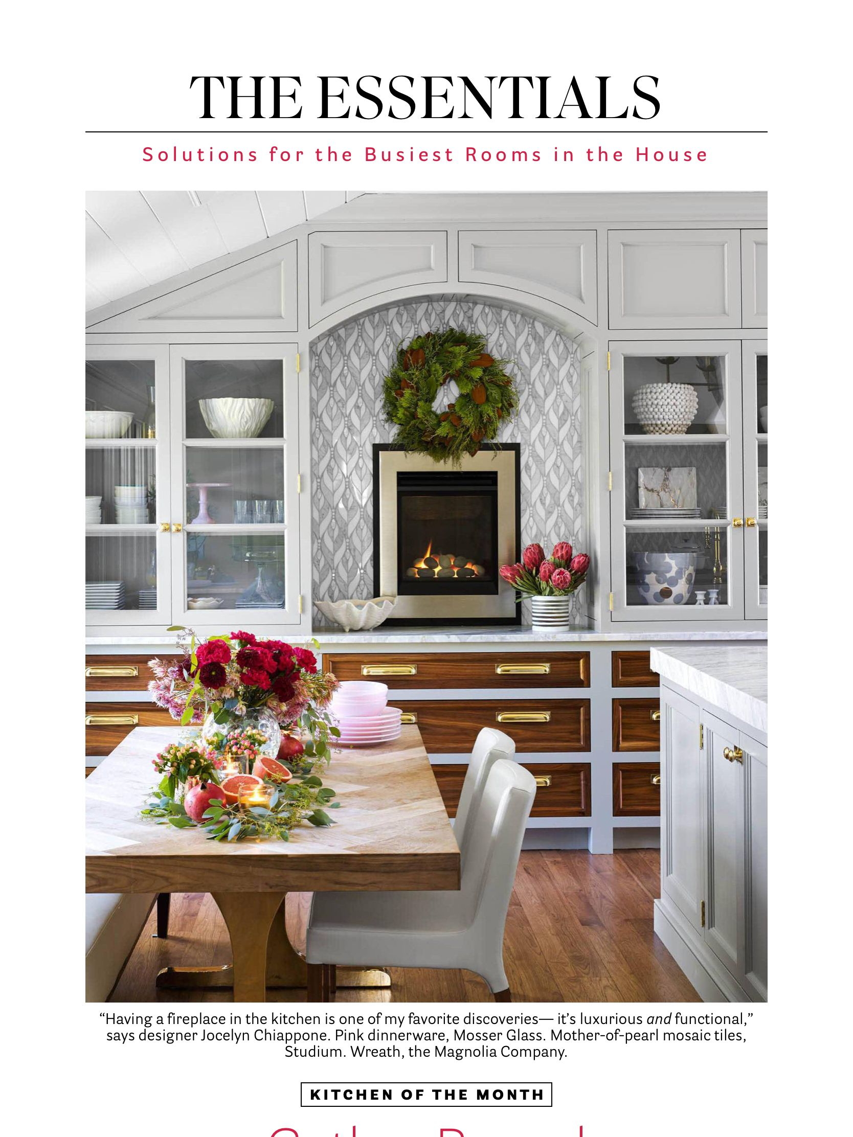 """Kitchen of the Month"" from House Beautiful, Dec 2018"