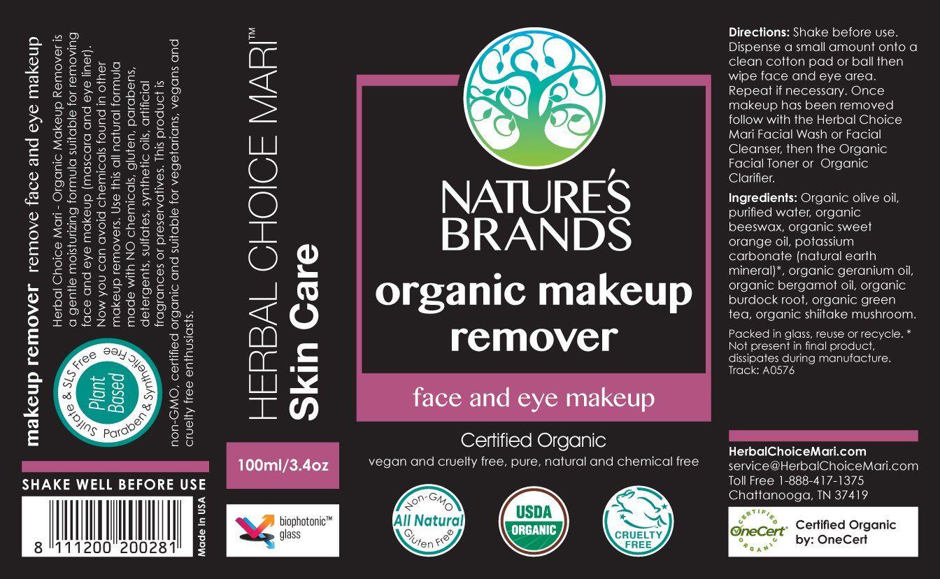 Herbal Choice Mari Organic Makeup Remover; 3.4floz ** To