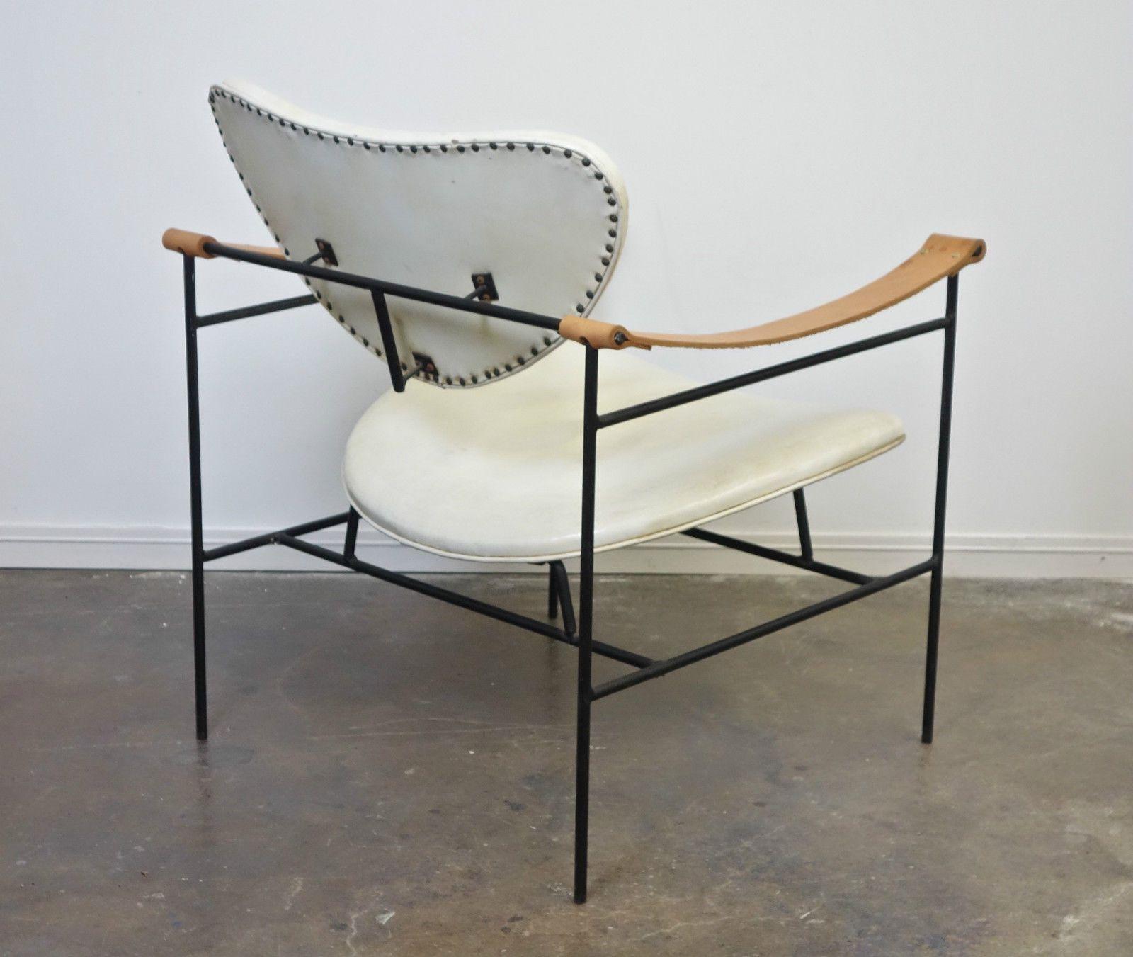 mid century wrought iron chair