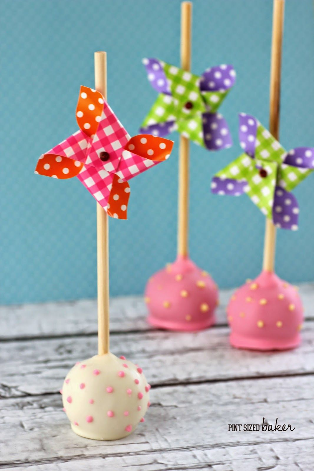 Pint Sized Baker Pinwheel Cake Pops and a Giveaway