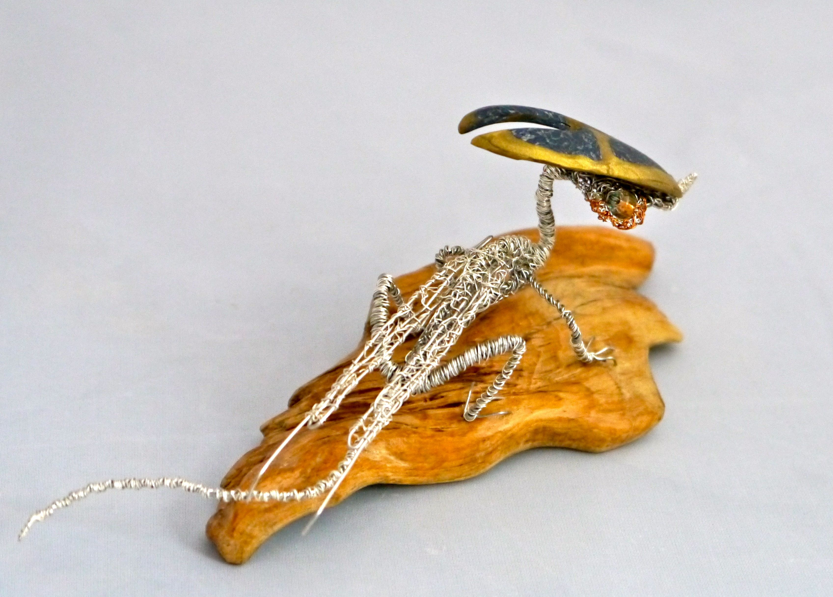 Gecko Dragon wire sculpture by Matthew Gale www.facebook.com/MatthewGaleArt