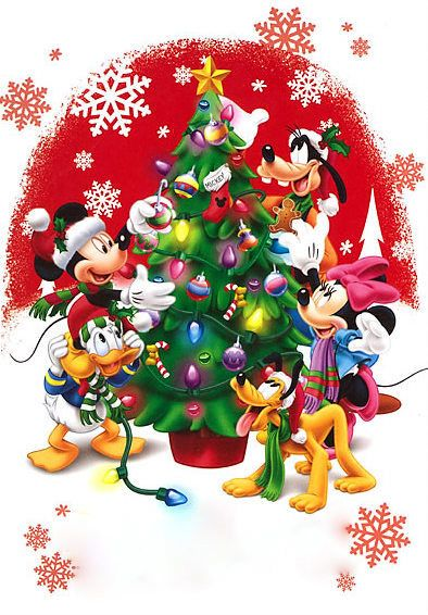Immagini Natalizie Walt Disney.My 4 Granddaughters Festivita Natale Buon Natale Cartoline Di